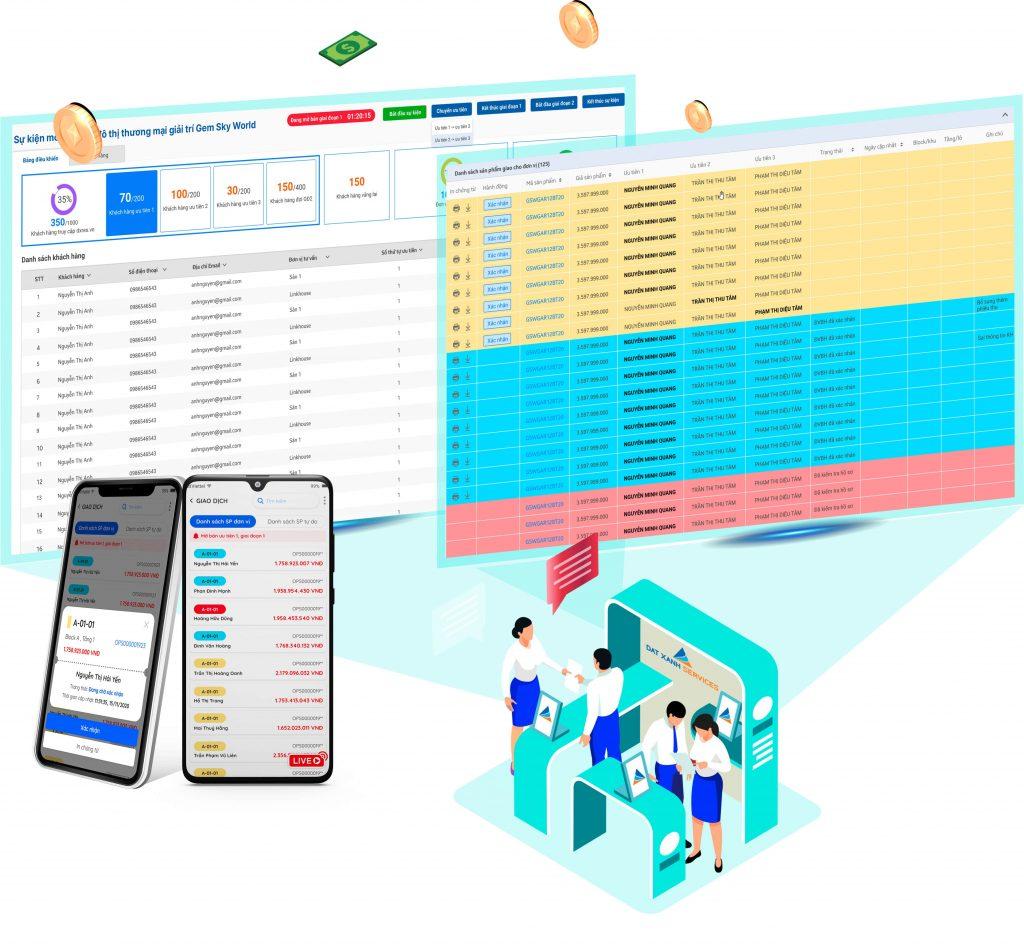 Ứng dụng bất động sản Real Agent do Dat Xanh Services phát triển