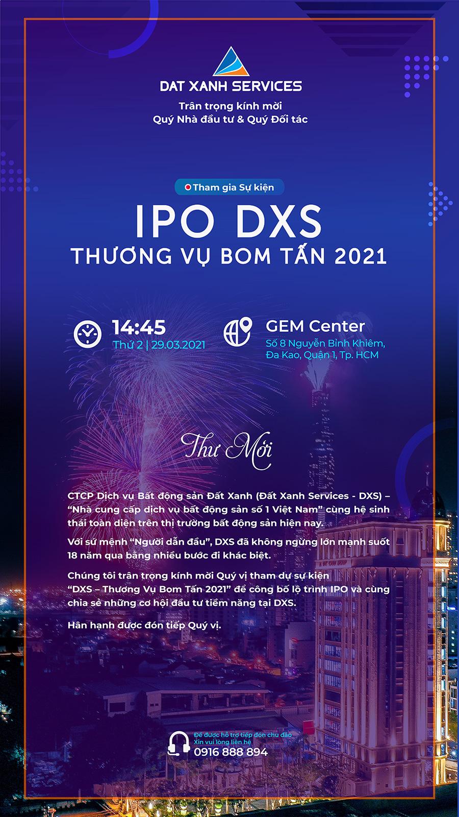 Sự kiện giới thiệu lộ trình IPO DXS - Thương vụ Bom tấn 2021