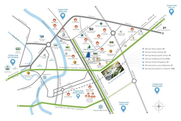 Sức hút các đô thị vùng đệm sân bay Long Thành-03